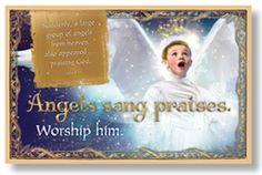 Christmas Bulletin Board Set - Angels sang praises.