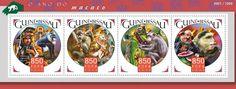 GB15903a Year of the monkey (Mandrillus sphinx, Yu Huang (Jade emperor), Saimiri sciureus, Pan troglodytes, Sha Wujing, Ceropithecus mitis, Zhu Bajie)
