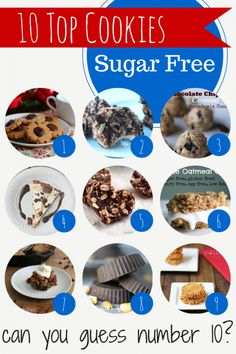 10 Top Sugar Free Cookies I love cookies. Going on a diet for health reasons or to lose weight is hard when you are tempted by your favorite unhealthy foods.