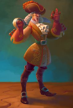 Pirate - character design digital illustration by Andrew Chepurko on ArtStation Character Model Sheet, Game Character Design, Character Creation, 3d Character, Character Concept, Concept Art, Game Concept, Male Cartoon Characters, Fantasy Characters