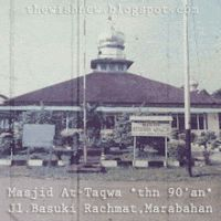 DP BBM Animasi Terbaru Versi Photoshop : Masjid At - Taqwa Marabahan