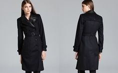Spy coat Burberry London Coat - Braithwell Leather Lapel_2