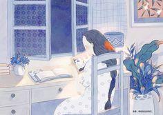 《時差》前篇-木言_绘本,治愈,青春_涂鸦王国插画