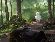 This is fan art of Ice Bear from We Bare Bear. I do really love Ice bear since the first time I saw him. I'm trying to keep in touch with BG and put aside perfectionism.