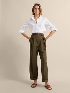 Women´s Shirts & Blouses at Massimo Dutti online. Enter now and view our Spring Summer 2019 Shirts & Blouses collection. Chic Outfits, Fashion Outfits, Womens Fashion, France Mode, Estilo Preppy, Tennis Fashion, Summer Work Outfits, Minimal Fashion, Everyday Outfits
