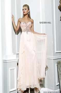 Sherri Hill 3895 Embellished Strapless Dress (US 6, Peach) - Brought to you by Avarsha.com