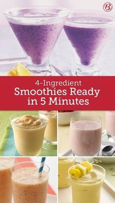 With only 5 minutes and four ingredients, there's really no longer a good excuse to buy smoothies rather than DIY.