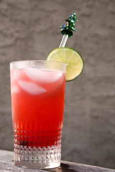 the Principessa - Campari, vodka, pink grapefruit juice,seltzer and lime slices