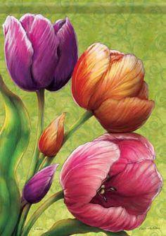 Spring Tulips Flag ca47099