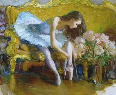 BALLET DANCER........PAINTING BY CONSTANTINE LVOVICH........BING IMAGES.......