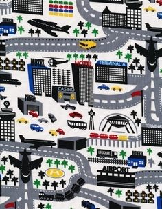 love this fabric! can make mat for the kids to drive their matchbox cars.