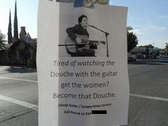 Ad for guitar lessons