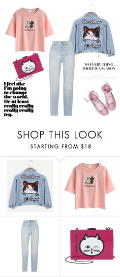 """feline2"" by deboraaguirregoncalves on Polyvore featuring moda, WithChic, Yves Saint Laurent e Nordstrom"