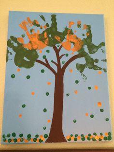 Handprint and fingerprint tree