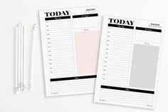 A5 Printable Inserts Refills Modern Simple Daily Planner (also fits kikki.k PERSONAL Planner & Time Planner LARGE)-Undated by EllemonDesigns on Etsy https://www.etsy.com/listing/231316822/a5-printable-inserts-refills-modern