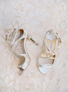 Strappy Choos!  Jose Villa Photography  - On SMP: http://www.StyleMePretty.com/2014/03/04/elegant-outdoor-wedding-in-kenwood-california/