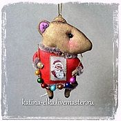 Подарки к праздникам ручной работы. Ярмарка Мастеров - ручная работа Мыши - помощники Санты. Handmade.