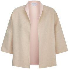 Max Mara Zambra Reversible Jacket ($960) ❤ liked on Polyvore featuring outerwear, jackets, layered jacket, double face jacket, reversible jackets, maxmara and open front jacket