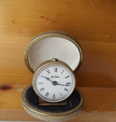 Vintage Travel Alarm Clock with Case  SETH by UrbanRenewalDesigns, $18.50