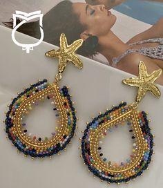 Beaded Jewellery, Diy Accessories, Design Projects, Beading, Crochet Earrings, Angeles, Swarovski, Jewels, Architecture