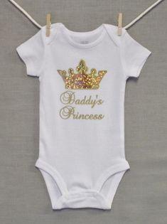 Daddy's Princess,New Dad,Newborn Baby Girl,Baby Girl Clothes,Baby Onesie, Unique Baby Onesie,Baby Onsie, Baby Shower, by PersonalizedGiftsEtc on Etsy https://www.etsy.com/listing/237467843/daddys-princessnew-dadnewborn-baby