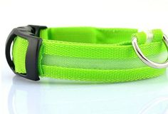 LED Safety Dog Collar - Glow In The Dark Nylon Pet Collar