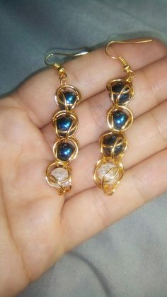 Earrings/Aretes/Pendientes/Cercei  Own creation, by Alina Ardelean