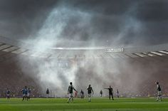 Rangers fans set off flares after Kenny Miller scored during the Scottish Cup final against Hibernian at Hampden Park Kenny Miller, Steve Harley, Hibernian Fc, Hampden Park, Rangers Fc, Refugee Crisis, Choose Life, Boston Red Sox, Amazing Photography