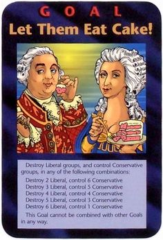 ❥ {OFF with their HEADS?} Illuminati New World Order Card~ LET THEM EAT CAKE!