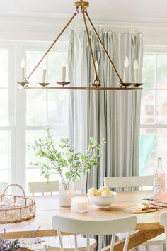 Simple Summer Kitchen Decorating Ideas Summer Kitchen, Decorating Ideas, Decor Ideas, Home Lighting, House Tours, Kitchen Decor, Seasons, Simple, Kitchens