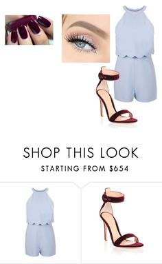 """""""model"""" by li-directioner ❤ liked on Polyvore featuring Miss Selfridge, Gianvito Rossi and GET LOST"""
