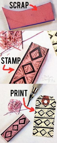 Balzer Designs Blog: Garbage Stamps