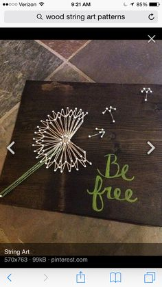 Be Free with Nails and string