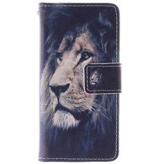 Quermuster Wallet Magnetic Schlag-Standplatz TPU   PU-Leder Tasche für iPhone 5S 5 Tiger