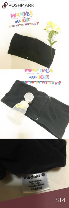 "Medela Easy Expression Hands Free Pumping Bustier Good pre-owned condition Medela hands free bustier. This is a life saver for the pumping mom! Let's you pump while keeping hands free - perfect for pumping at work! Size XL, approximately 16"" bust, does stretch. Medela Intimates & Sleepwear Bras"