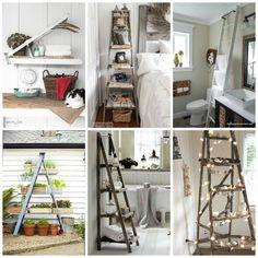 Idee per riciclare vecchie scale di legno