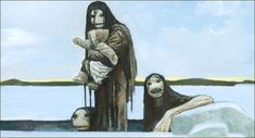 Alright. I just wanted to add one short story about a mythological beast from the Inuit. This happens to be one of my favorite pictures of all time, just because of the level of creepiness involved. These are Qallupilluit, Qallupilluk sing