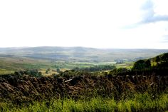 Beautiful view of the valleys including Eden Valley from the back road from Hadrians Wall to High Force Waterfall.