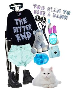"""pastel goth #6"" by red-foxess-and-wolf ❤ liked on Polyvore featuring Lime Crime, Levi's, Fuji, D.L. & Co., Dr. Martens, women's clothing, women's fashion, women, female and woman"