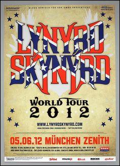 LYNYRD SKYNYRD - rare original Munich (Germany) 2012 concert poster