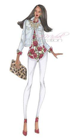 Fashion Illustration Print Rock Star by MMichelIllustration