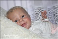 Smiling Chubby Girl *Maizie* by Andrea Arcello - Reborn Realbabydolls Nursery