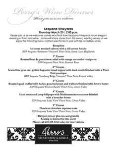 Join us for our March 21st Wine Dinner at our San Antonio location, featuring James MacPhail from Sequana Wines!