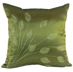 "Laurel Green Lotus Leaves 18""x18"" Decorative Silk Throw Pillow Cover That's Perfect!,http://www.amazon.com/dp/B0075X5VL8/ref=cm_sw_r_pi_dp_6yXptb07NYN82WPB"
