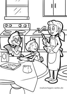 Malvorlage / Ausmalbild gemeinsam kochen - malvorlagen-seite.de | Kostenlose Malvorlagen / Ausmalbilder - Free Coloring pages for Kids | #malvorlagen #malvorlage #ausmalbild #ausmalbilder #coloring #outline #coloringpage #outlineart #coloring #colorings #coloringart #lineart #coloringpage #coloringpages #coloringaddict #coloringfun #colouringbook #coloringbook #colouringforkids #coloringforkids #malen #malbuch #ausmalen