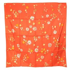 #Hermès #Carré #FlowerPower #Silk #Orange #Occasion #SecondHand