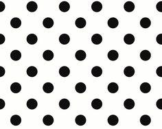 Schwarze Punkte auf weißem Hintergrund aus der Schöner Wohnen 3 Kollektion, Tapete 225214 #black #and #white #schwarz #weiß #tapete #ascreation #living #interior #punkte