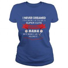 Baseball NANA T Shirts, Hoodies, Sweatshirts. GET ONE ==> https://www.sunfrog.com/Fitness/Baseball-NANA-Royal-Blue-Ladies.html?41382