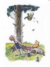 E. H. Shepard, illustrator of all the Pooh Books.