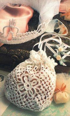 X954 Crochet PATTERN ONLY Bride's Purse & Bridal by BeadedBundles, $4.95